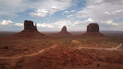 Monument Valley, West Mitten Butte, East Mitten Butte, and Merrick Butte