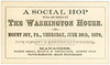 A Social Hop at the Washington House, Mount Joy, Pa., June 30, 1870