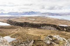 Dùn Caan summit view SW over Bealach Ruadh
