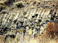 Basalt columns with wires (Edit: Sandstone, not basalt)
