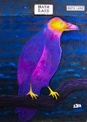 Raven Mural, Bath Lane, Glasgow