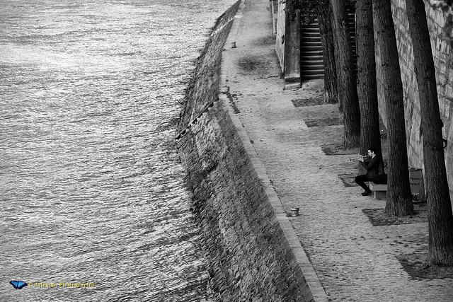 Le trompettiste sur la Seine