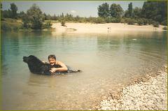 Indy et moi, le bonheur était dans l'eau...
