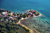 Wasserburg am Bodensee as aerial view