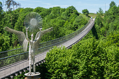 "Stahlseil-Hängebrücke  mit dem schönen Namen ""Santa Lucia"""