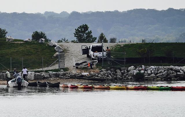 Canoes and Kayaks ready for Hibernation