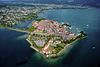 Bird's eye view of Lindau island