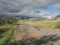 Good view of Corral Road in Sierra Vista, Arizona.