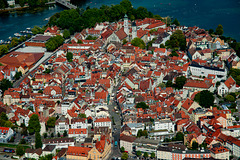 Lindau downtown view from the air