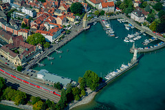 Lindau harbour from above
