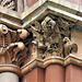 doulton lambeth   (28) foliate capitals in terracotta with birds, detail of doulton's pottery factory by r, stark wilkinson 1878