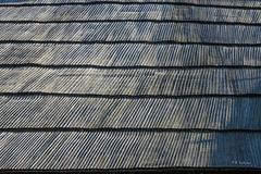Holzschindeln der Rotunde Sv. Janez