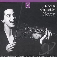 Ginette Neveu : Violin Concerto