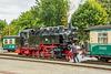 99 1781-6 (DR-Baureihe 99.77–79) der RüBB beim Rangieren