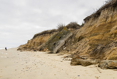 Collapsed pill box at Benacre Cliffs