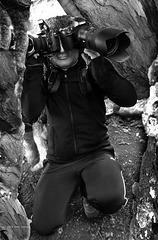 Der Fotograf ... im Baum