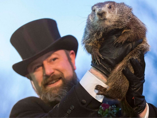 Groundhog Phil Predicts an Early Spring