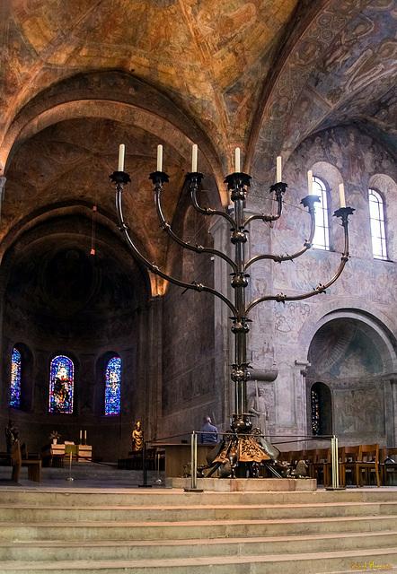 Siebenarmiger Leuchter im Braunschweiger Dom