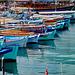 Alanya : ancora barche da pesca con tendalino di protezione
