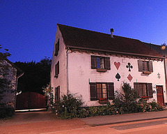 """Playing cards house--(with a bit of luck l""""ll    last until my 89th birthday)"""