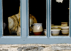 Pottery Behind a Window