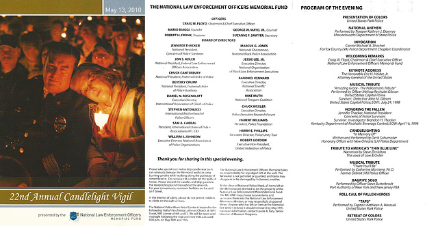 22ndCandleVigil.13May2010.Program