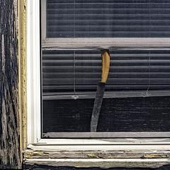 knife in the window
