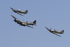 Bristol Blenheim and Hawker Hurricanes