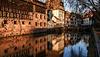 Strasbourg en couleur au soleil couchant