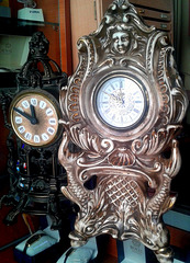 Antique clocks or Stan & Ollie
