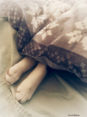 Doesn't everyone like to sleep with their feet sticking out from  the covers?