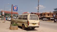 Toyota minivan du Laos