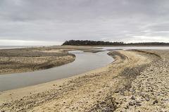 Benacre Broad breach channel to the North Sea