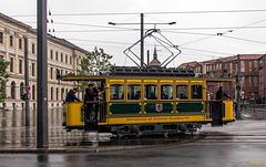 Historische Straßenbahn im Zentrum Braunschweigs