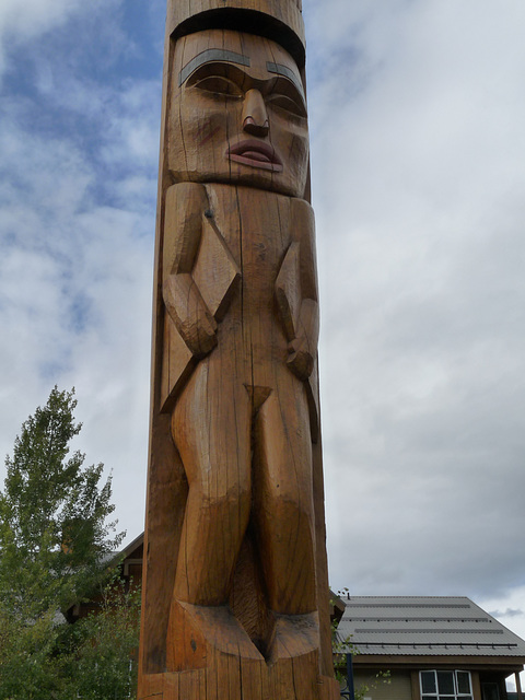 Detail of a Totem Pole