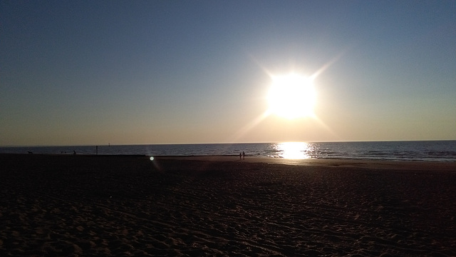 Coucher du soleil à Houlgate