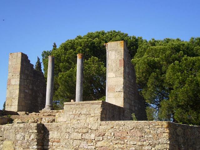 Ruins of Roman temple.