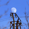 La lune sous haute tension....