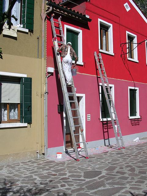 painting Burano
