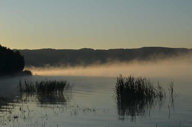 Утро на Бакотском заливе, Туман над водой / Morning at the Bay of Bakota, Fog over the Water
