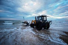 Monte Gordo, Fishermans at daybreak