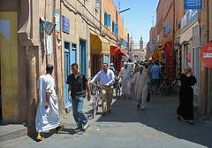 Rue commerçante d'Essaouira .