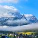 Blick am Morgen in die Dolomtien