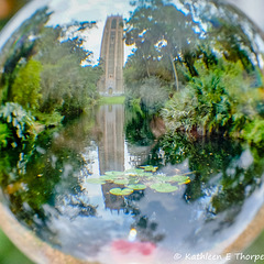 Bok Tower Through a Crystal Ball