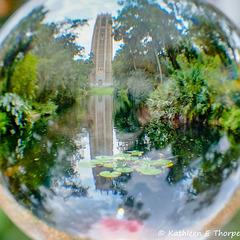 Bok Tower Through a Crystal Ball