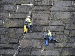 Repairing the dam at Lake Vyrnwy