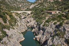 Les gorges de l'Hérault, le site du Pont du Diable. Fr34 - (7 notes)