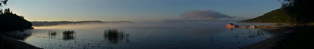 Утренняя панорама Бакотского залива