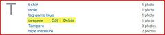 Edit keywords in case of capitonym errors