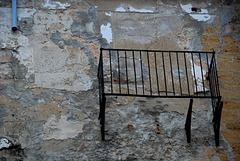 Balkon ohne Tür und Boden